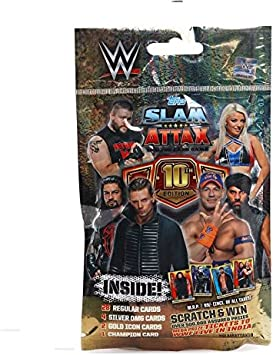 Topps WWE Slam Attax 10 TCG Collection Multipack, Multi Color