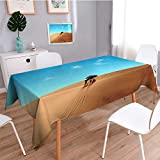 Auraisehome Water Resistant Tablecloth Desert landscape in Africa Great for Buffet Table, Parties, Holiday Dinner, Wedding & More