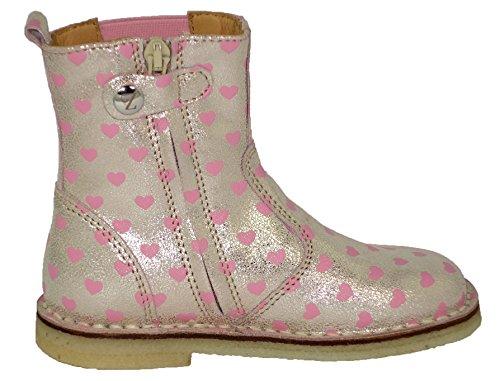 Zecchino dOro A06-668 Unisex Kinder Stiefeletten / Boots Silber (silber-rosa 6414)