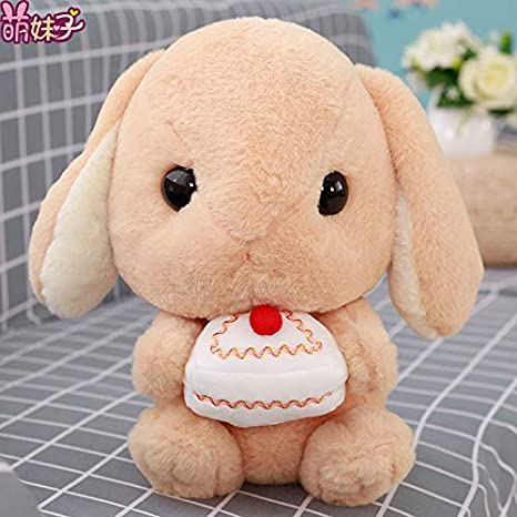 suxiaopei Juguete de Peluche de Conejo muñeca de Conejo de Orejas caídas muñeca de Conejo de Oreja Larga Linda muñeca de Conejo Grande niña Princesa Abrazo marrón Pastel Segundo Aproximadamente 42 cm