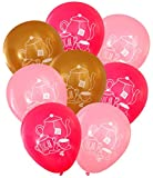 Nerdy Words Tea Party Latex Balloons (16 pcs) (Pinks & Gold)