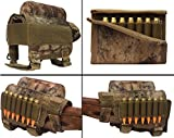 Ultimate Arms Gear Rifle Ammo Round Shot Shell Cartridge Hunting Stock Buttstock Cheek Rest Carrier Case Holder Fits .308 300 Winmag AR15 M4 M16, Tactical Camo