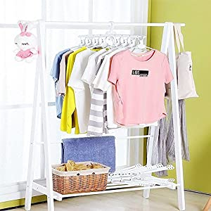 WeeDee Premium Clothes Hangers Innovative 8 in 1 Folding Closet Organizer Hanger Space Saving, 360 Degree Rotating Hooks Easy To Use, Durable And Non-Slipping Coat Hanger,White