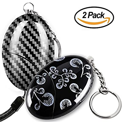 Personal Alarm - Maxesla Self Defense Keychain 120dB Emergency Safety Keychain for Women, Quick Release Key Ring, Batteries Included, Personal SOS Security Alarm for Women, Kids, Elderly [2 Pack]