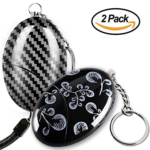 (Personal Alarm - Maxesla Self Defense Keychain 120dB Emergency Safety Keychain for Women, Quick Release Key Ring, Batteries Included, Personal SOS Security Alarm for Women, Kids, Elderly [2 Pack])