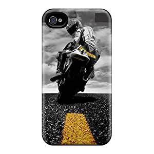Durable Biker Back Case/cover For Iphone 4/4s
