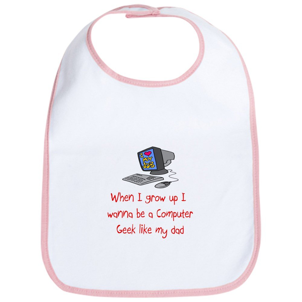CafePress - Computer Geek Bib - Cute Cloth Baby Bib, Toddler Bib