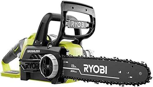 Ryobi ONE 12 in. 18-Volt Brushless Lithium-Ion Electric Cordless Chainsaw – 4.0 Ah Battery and Charger Included