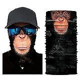 Glumes Face Mask Half Sun Dust Protection|Vivid 3D Animal Tube Mask Seamless|Durable Face Mask|Bandana Skeleton Face Shield|Motorcycle Fishing Hunting Cycling Halloween Party (B)