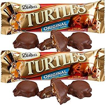 Demet's Original Chocolate Turtles Caramel Cluster 3-piece King Size Bars - 24 Ct. Case