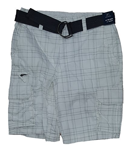 (George White Plaid At The Knee Stacked Cargo Shorts - 46)