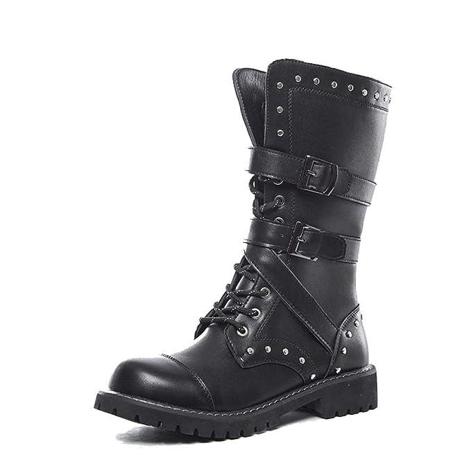 design di qualità 5b6f3 a80b3 QIKAI Stivali Militari Stivali Da Cavallerizza Per ...