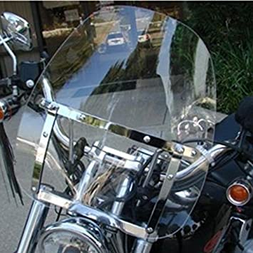 Harley Davidson Windshields >> Motorcycle Clear Windscreen Windshield For Harley Davidson Sportster Dyna Glide Softail Honda Kawasaki Suzuki Yamaha Cruiser Savage Intruder Volusia