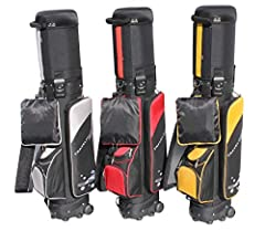 """Color: Blk/Grey,Blk/gold,Blk/red  Material: 600D black nylon padded, 420D dobby nylon padded  Size: high 49"""" (124.46cm)x dia. 9""""(22.86cm) , 6-way top divider  Weight: 10.4lb  Feature: -1 TSA Lock, 3 velcroes around the hard top to protect  -2..."""