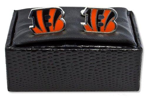 NFL Cincinnati Bengals Cut Out Logo Cuff Link, Silver