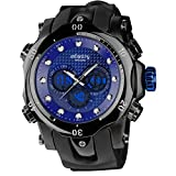 INFANTRY 51mm Big Face Military Tactical Sport Watch Large Analog Digital Wrist Watches for Men Heavy Duty