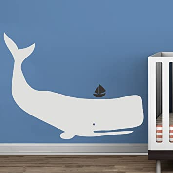 Whale Wand Aufkleber Vinyl Kinderzimmer Aufkleber Baby Zoo Wal Decor Ocean  Kinder Wand Aufkleber Jungen Kinderzimmer