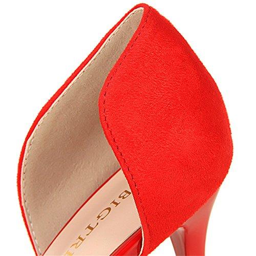 amp;dw los z Hueco fino remiendo leopardo atractivo sandalias patrón del del del con Rojo talones afiladas altos xqwXdRw