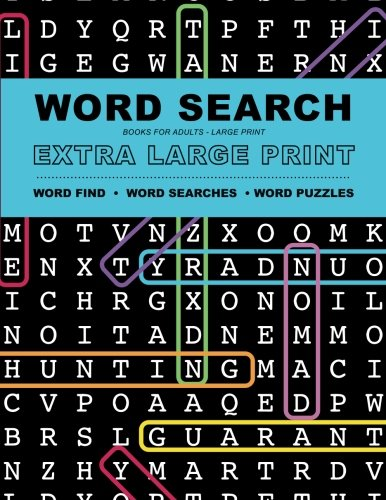 Word Search Books for Adults: Extra Large Print Word Find - Word Searches - And Word Puzzles (Visually Word)