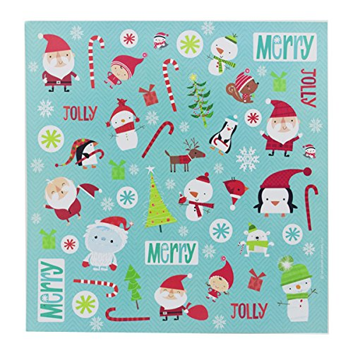 Christmas Santa Stickers (Christmas Holiday Sticker - Santa Elk Snowflake Candy Penguin Christmas Tree Snowman - XNTBX Kids Stickers Decorations Toys Gifts (2 Sheets,104 Stickers))