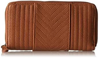Jessica Simpson Allie Sonya LG Double Z/A Card Case,Suntan,One Size