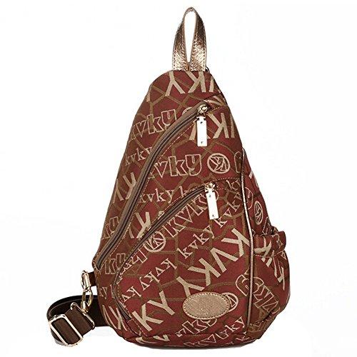 Pairs D - Bolso mochila  para mujer azul azul marrón