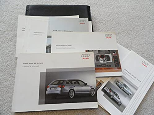 2006 audi a6 avant owners manual audi amazon com books rh amazon com 2006 A6 Avant Bagged 2006 Audi