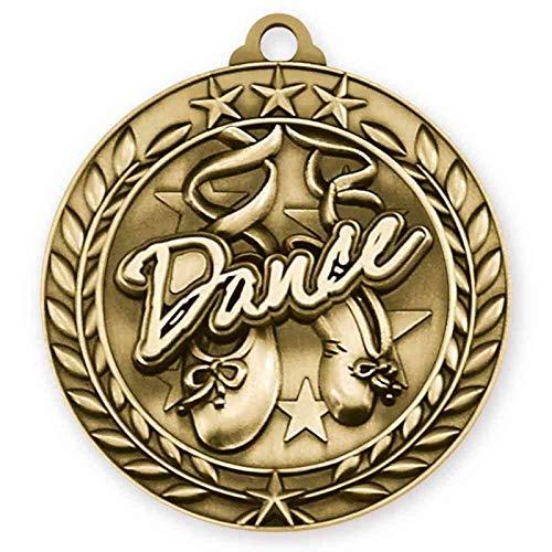 エクスプレス メダル ダンス メダル ゴールドに赤と白と青のネックリボン付き 受賞 トロフィー WAM9 B07G6S97QG  50