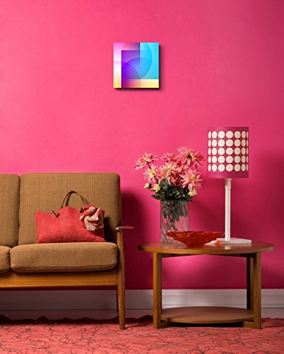 Abstract Pattern of Colorful Shapes Wall Decor