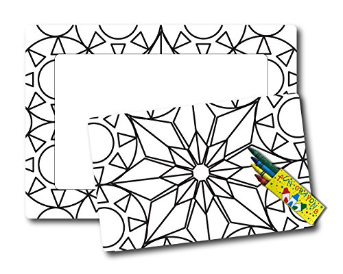 Color Your Own Christmas Star Picture Frame Magnet, DIY, Decorate a Holiday Magnetic Picture Frame - 5 x 7
