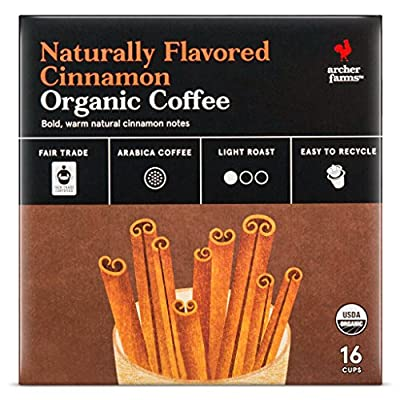 Archer Farms Naturally Flavored Cinnamon Organic Coffee K-Cups - 16 Count