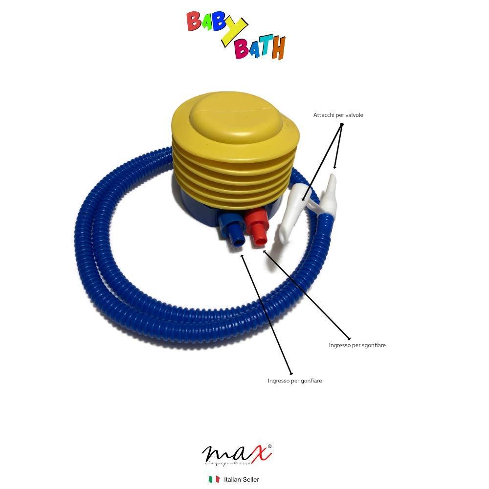 Baby Bath Bagnetto Neonato Gonfiabile 2a Generazione Con Appoggio Da 0 A 3 Anni Vaschetta Mare