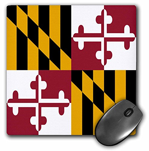 InspirationzStore Flags - State Flag of Maryland - US American - Heraldic banner of George Calvert 1st Baron Baltimore America - MousePad (mp_158370_1)