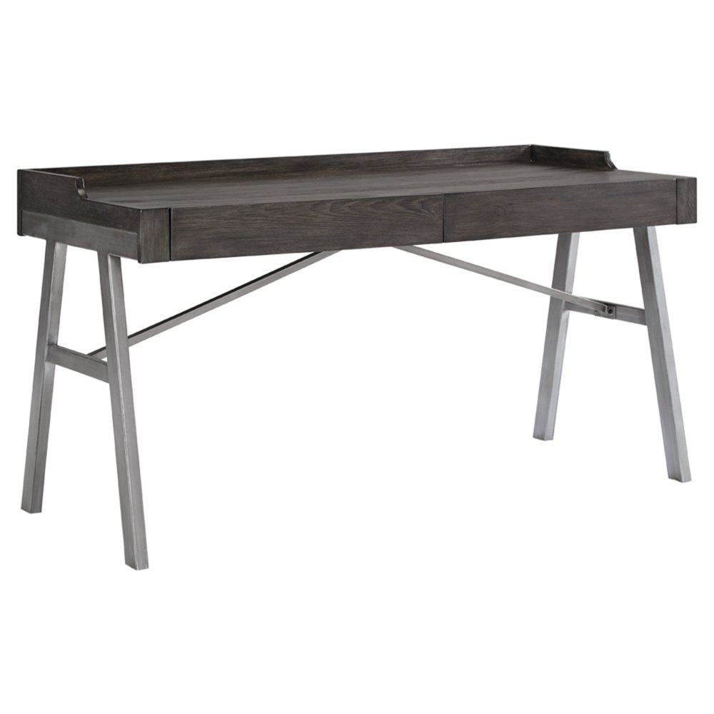 Ashley Furniture Signature Design - Raventown Home Office Desk - Contemporary - Grayish Brown Finish