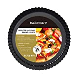 Tart and Quiche Pan,9 inch Bakeware Nonstick & Quick Release Coating Loose Bottom Quiche Tart Pan, Tart Pie Pan, Round Tart Quiche Pan with Removable Base