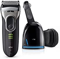 Braun Series 3 3090 Men's Electric Foil Shaver with Clean and Charge Station