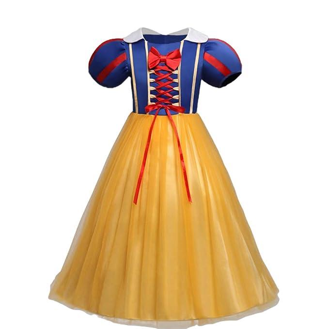 Abito Principessa Biancaneve Carnevale Costumi Snow White Vestito da  Ragazza Halloween Natale Cerimonia Abiti Partito Festa Nuziale Compleanno  Fiore nozze ... 0235a8d0779