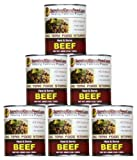 Survival Cave Food Canned Beef - 6 - 28oz Cans - Long Term Storage Sourced and Packed in the USA