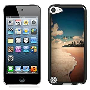 Fashionable Custom Designed iPod Touch 5 Phone Case With Take Me Away Exotic Beach Shore_Black Phone Case