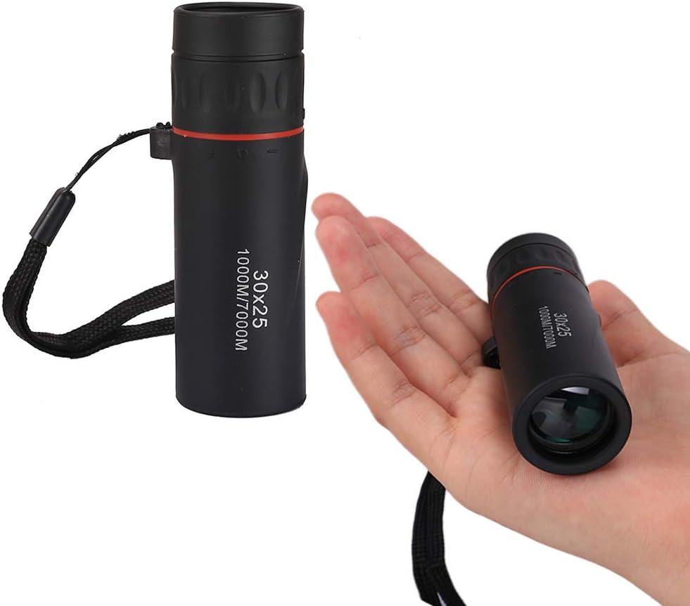 Akemaio 30x25 HD Mini telescopio monocular port/átil Telescopio /óptico de Caza para Acampar al Aire Libre para Ver Juegos Senderismo Viajar