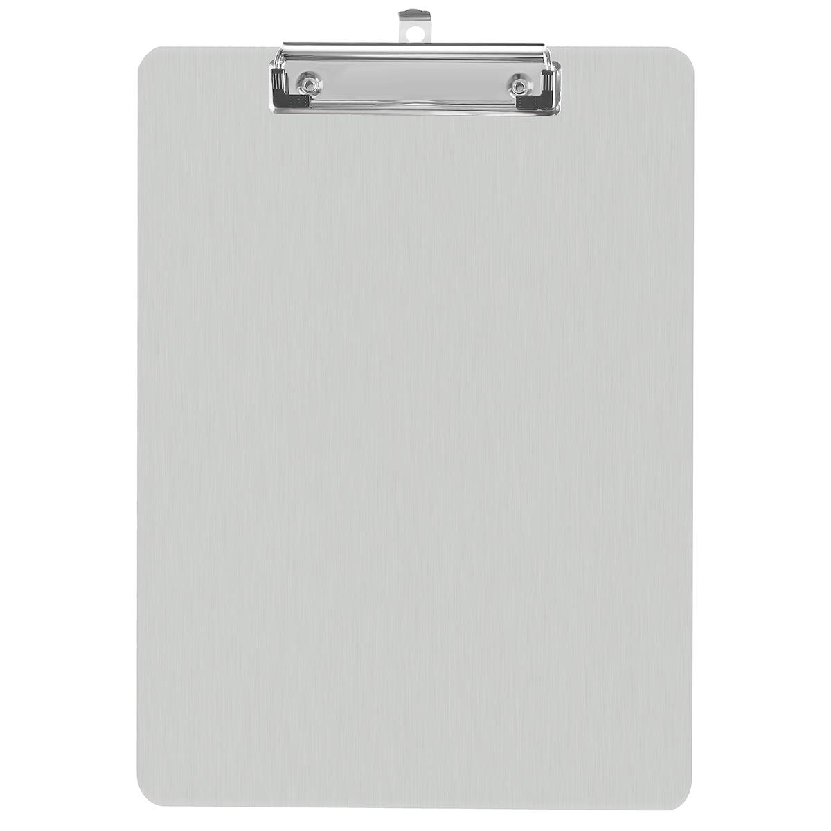 Aluminum Clipboard Paper Holder Steel Metal Clipboard - 9x12.5 Letter Size, File A4 Binder Holder for Office School Worker Business