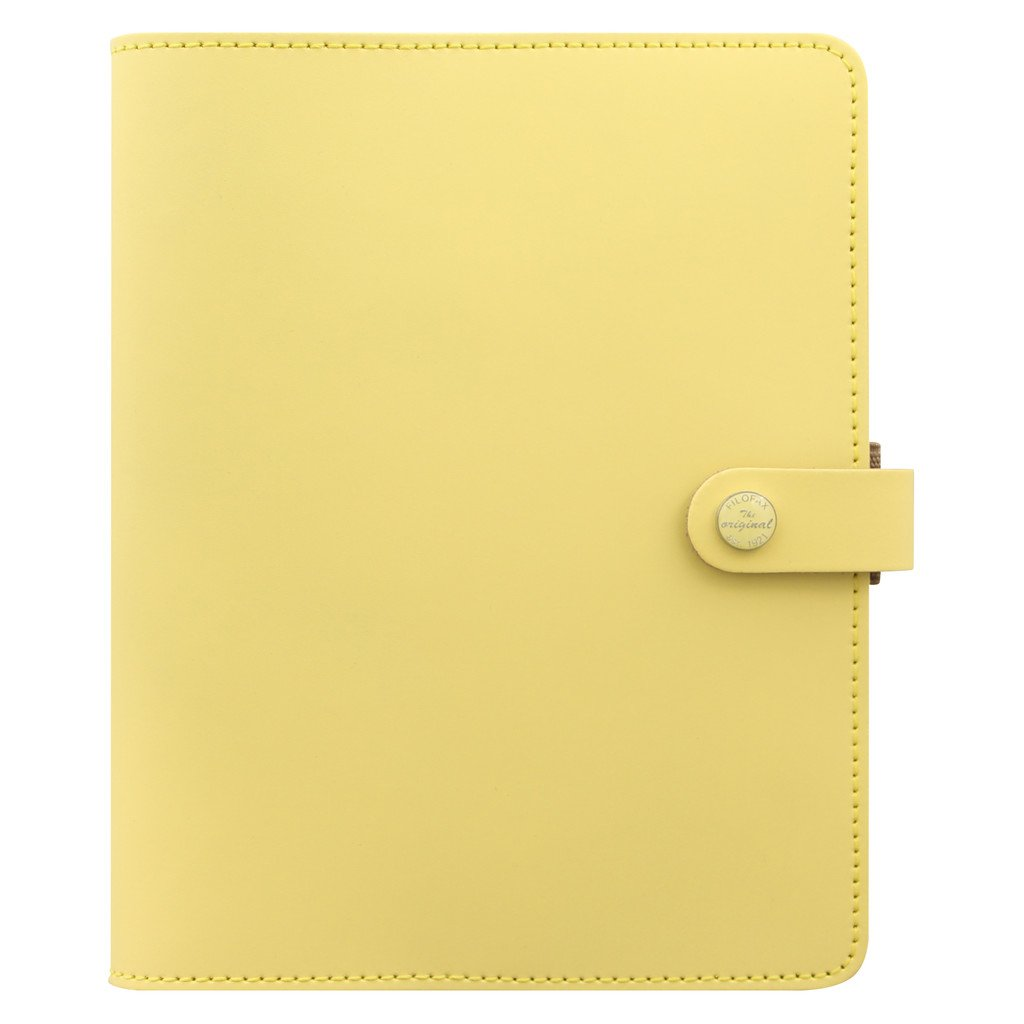 Filofax The Original Leather Organizer Agenda Calendar with DiLoro Jot Pad Refills (A5, Yellow ND 026068)