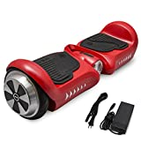 SURFUS JUNIOR 4.5'' Waterproof Hoverboard with Matte UL 2272 Certified Self-Balancing Scooter with LED lights, Red