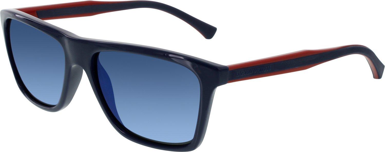 c0c339c9 Emporio Armani Men's EA4001-514596-56 Blue Square Sunglasses ...