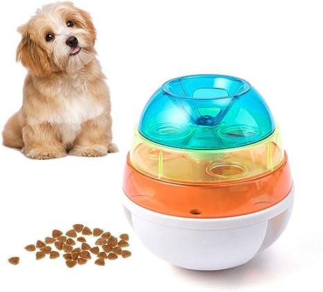 Pawaca Dispensador de bolas de comida para mascotas, pelota de ...
