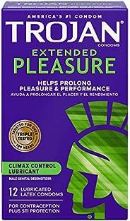 Trojan Extended Pleasure Condoms with Desensitizing Lubricant - 12 Count