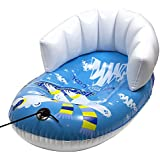 """Pipeline Sno Polar Bear Snow-Pal Inflatable Kids Snow Tube with High Back Seat, 33"""" Inches Long"""