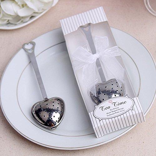 20pcs Wedding Favor Gift Love Heart Shaped Tea Infuser Spoon