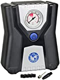 #8: P.I. Auto Store - Premium Analog Dial Gauge Tire Inflator - 12 Volt DC Electric Portable Air Compressor pump. With Carry Case