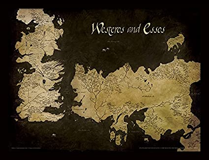 Game Of Thrones Juego de Tronos 30 x 40 cm Poniente y Essos Mapa ...